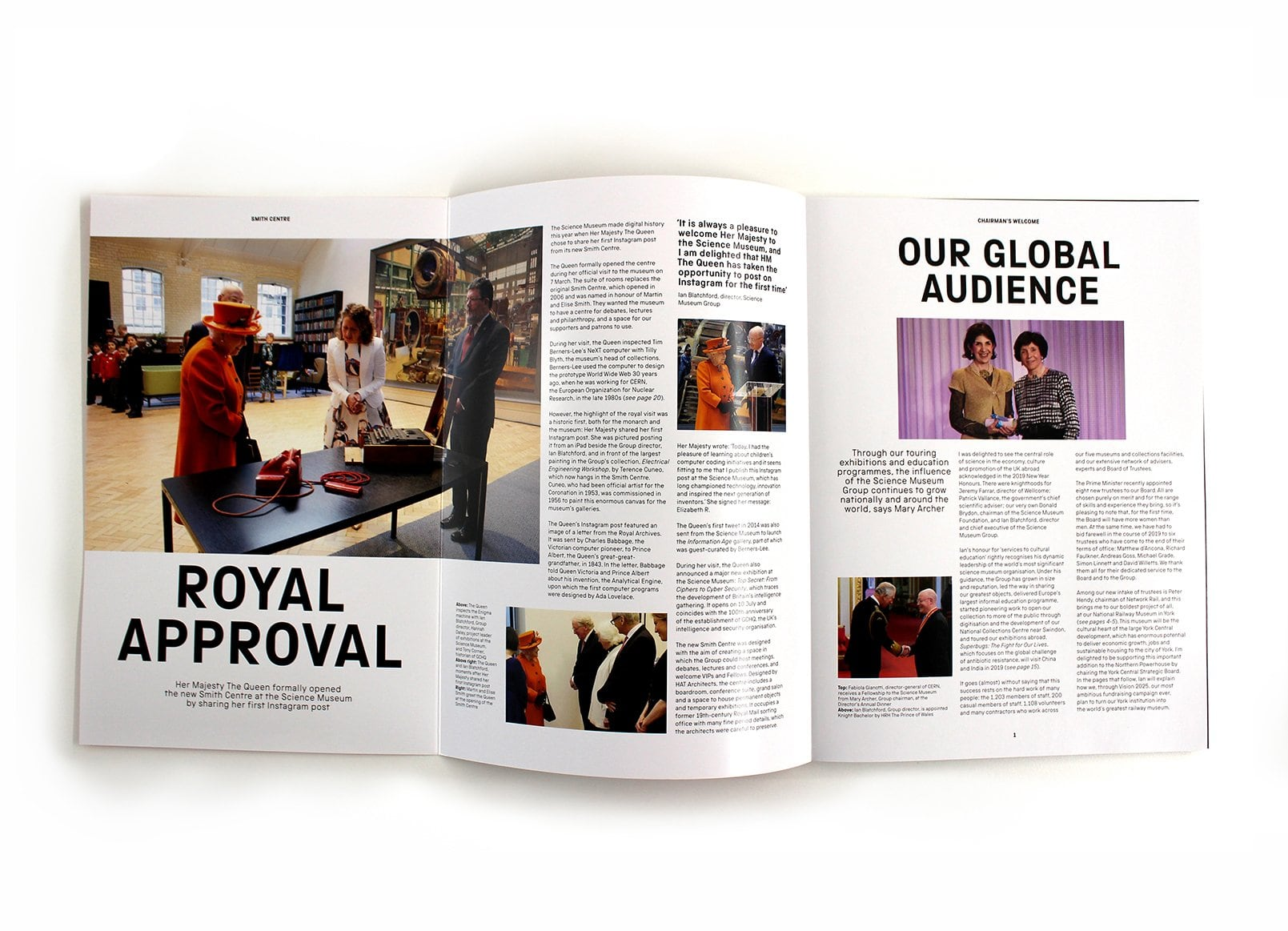Science Museum Annual Review Spreads