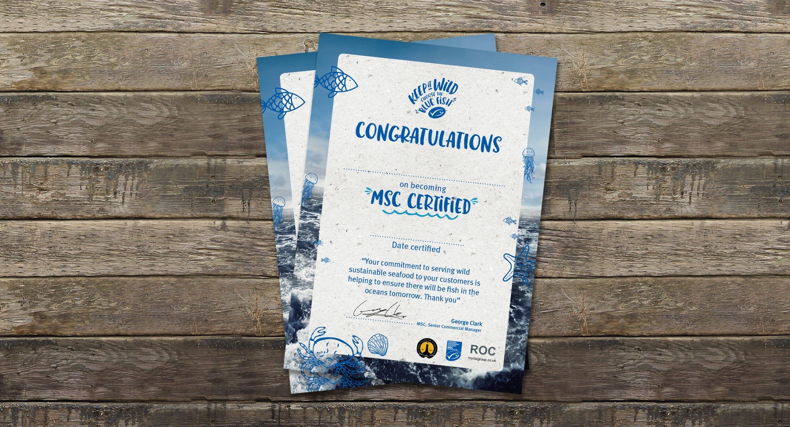 MSC anniversary – Certificate