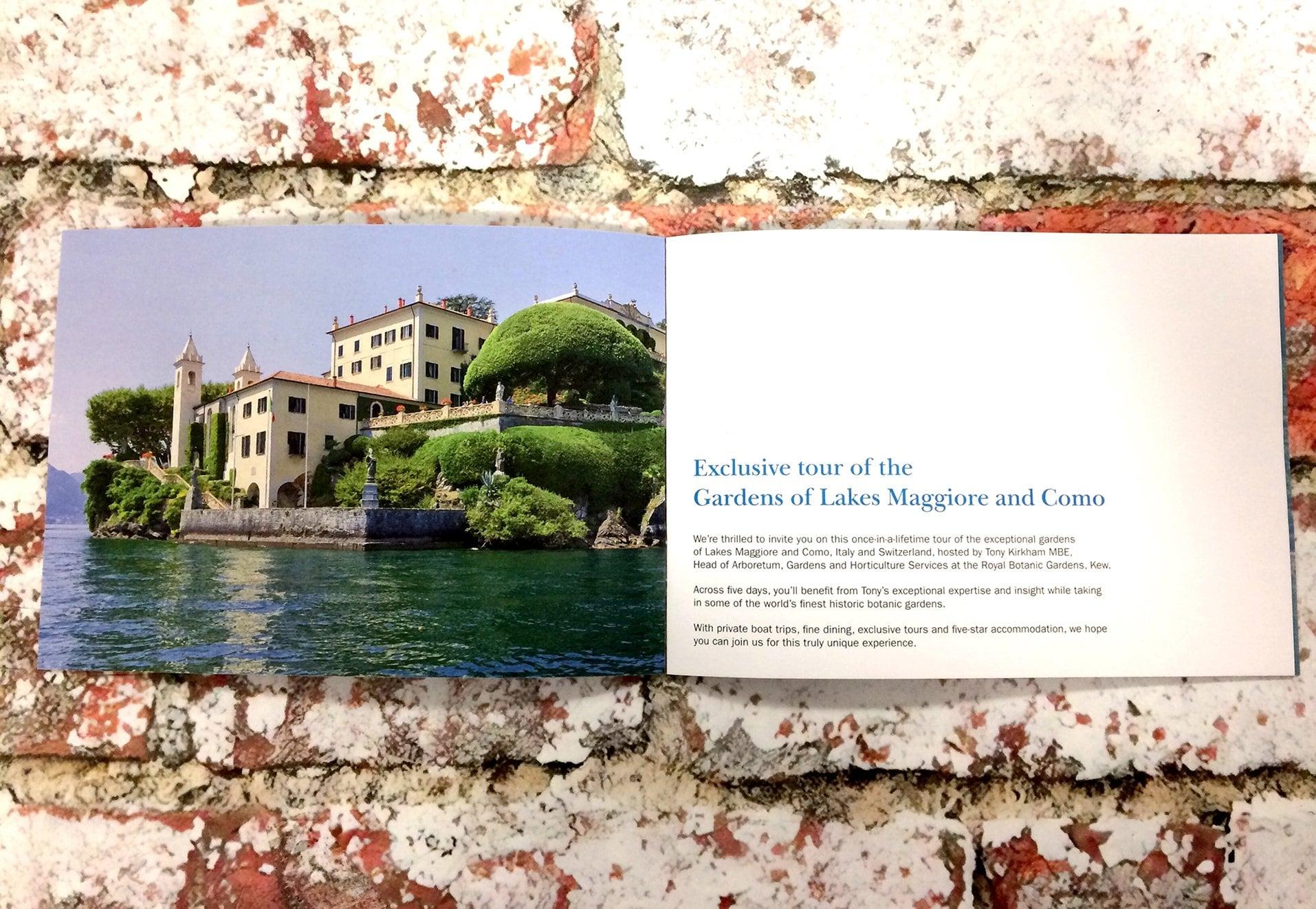 Kew Italy Trip Printed Material Spread